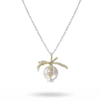 Lotta Jewellery – King of the Pomegranate Långt Halsband, silver