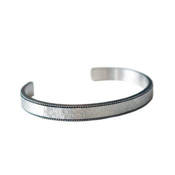 By Billgren –Hammered Steel Cuff Armband, stål