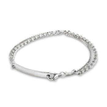 Cornelia Webb - Warped Double halsband, silver