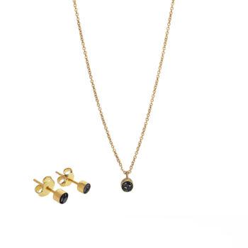 Baumgarten Di Marco – Mini diamond circle Set, guld