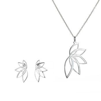 Anna & Deià – Lotus Set, silver
