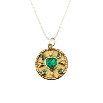 Kumkum - Love Zircon berlock, guld/kristall