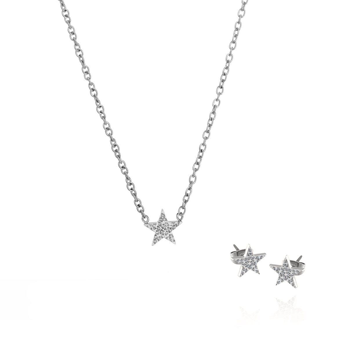 star-necklace-steel-set