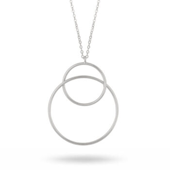 Snö of Sweden – Lio pendant halsband, silver