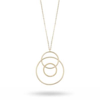 Snö of Sweden – Lio pendant långt halsband, guld