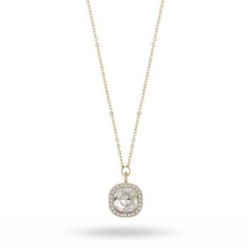 Snö of Sweden - Lyonne pendant halsband, guld/kristall