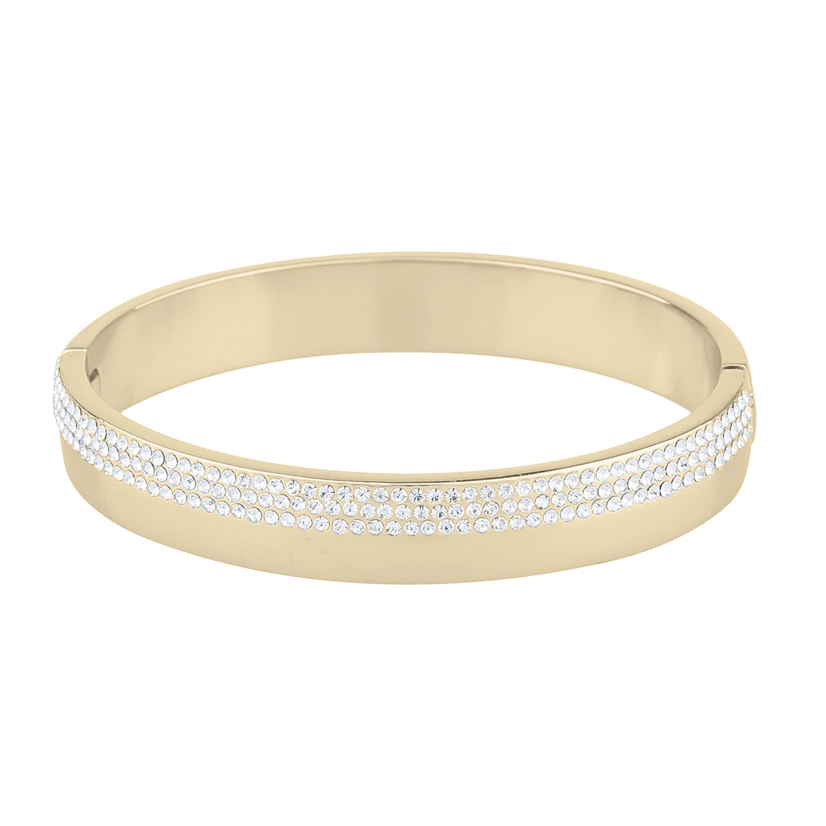 Snö of Sweden - Marseille oval armband, guld/kristall