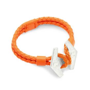 TREEM – Stark armband, silver/orange