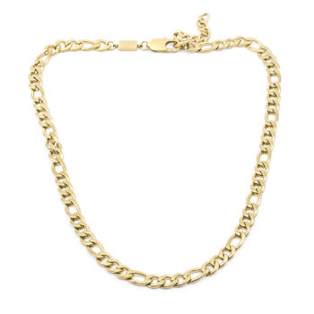 Seven/East – Figaro Chain halsband, stål