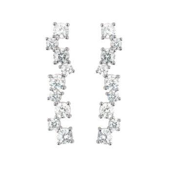 CU Jewellery – Gatsby Long Örhängen, silver