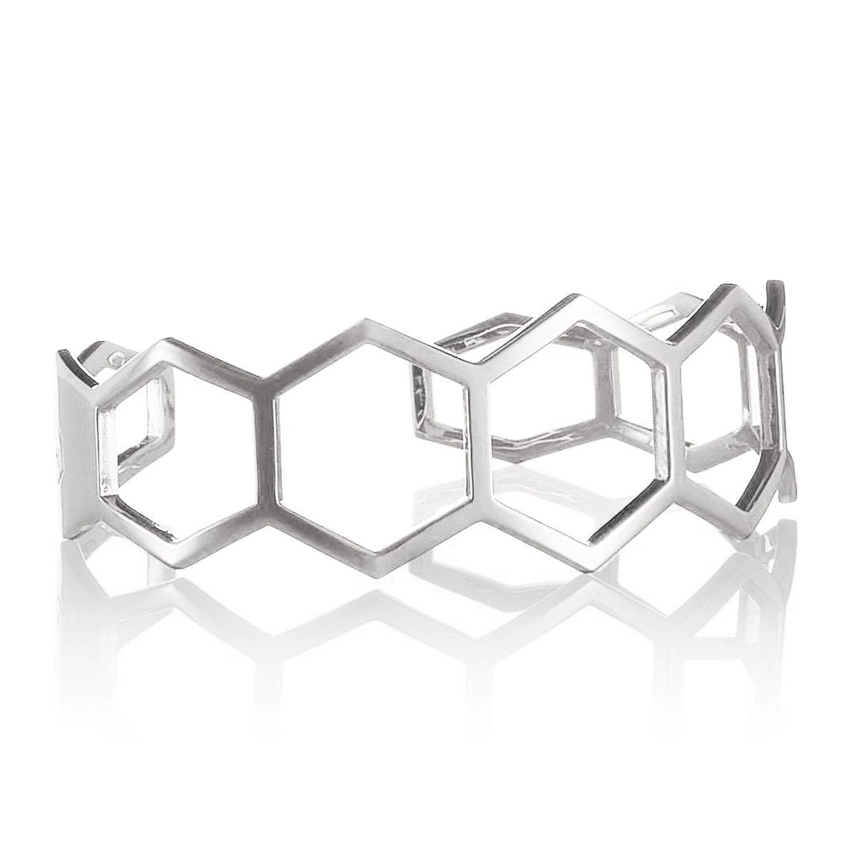 honeycomb-silver