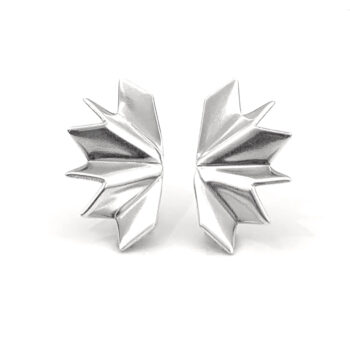 Tess Jordan Jewelry – Unfolded Stud örhängen, silver