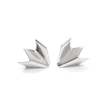 Tess Jordan Jewelry - Unfolded Small stud örhängen, silver