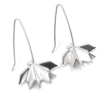 Tess Jordan Jewelry – Unfolded örhängen, silver