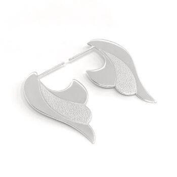 Tess Jordan Jewelry – Untethered Stud örhängen, silver