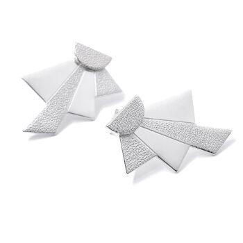 Tess Jordan Jewelry – Dawn Ear jacket örhängen, silver