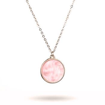 Gemini – Halsband Ilja, rosa/guld