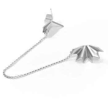 Tess Jordan Jewelry – Unfolded brosch, silver