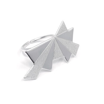Tess Jordan Jewelry – Dawn statement ring, silver