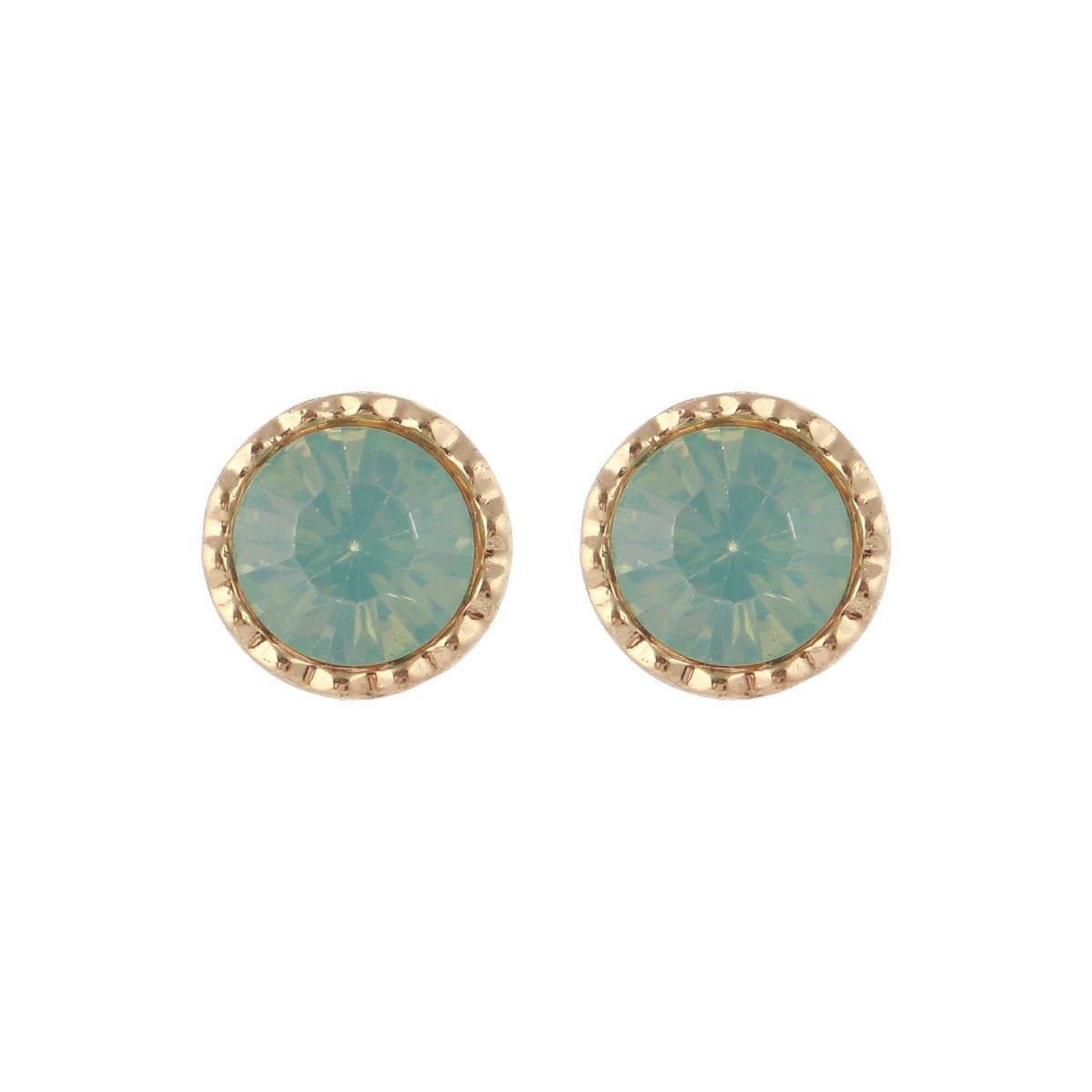 green-stud-earrings