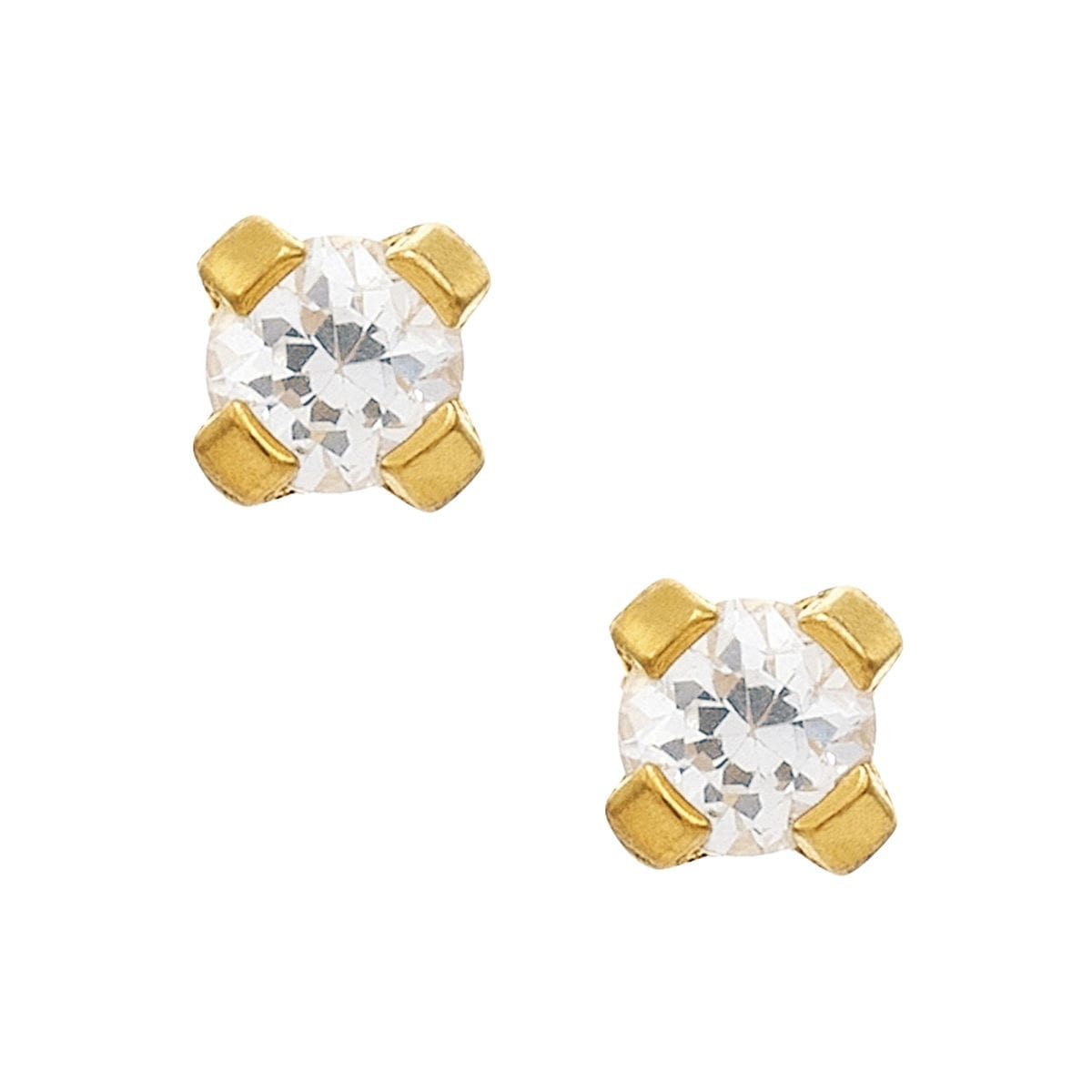 studex-sensitive-3mm-cz-gold-plated-prong-earrings