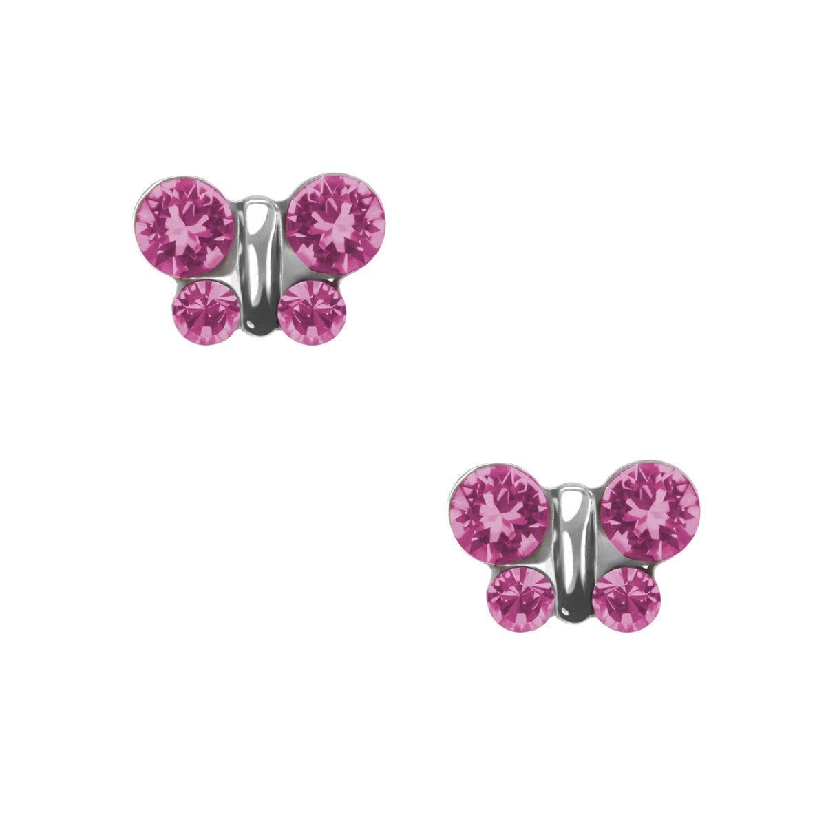 studex-sensitive-butterfly-october-rose-stud-earrings