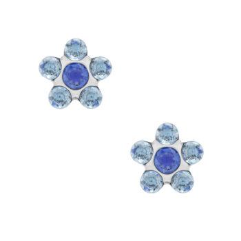 Studex - Sensitive Örhängen Daisy Light Sapphire, Stål