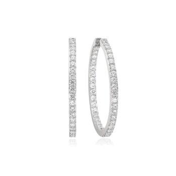 Sif Jakobs – Bovalino Örhängen, silver/kristall
