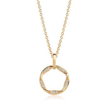 Sif Jakobs – Cetara Piccolo Halsband, guld/kristall