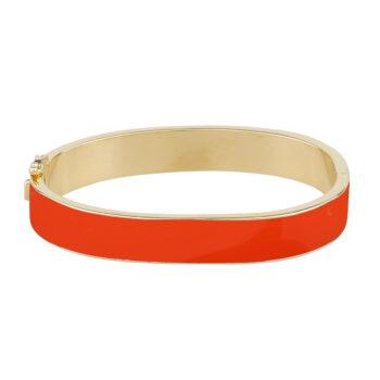 Snö of Sweden - Alley big oval Armband guld/orange