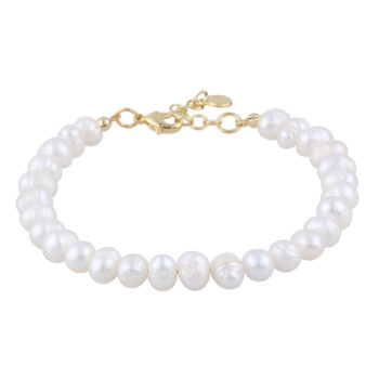 Snö of Sweden – Maxime pearl Armband, guld/vit