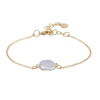 Snö of Sweden – Maxime pearl chain Armband, guld/vit
