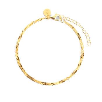 CU Jewellery – Letters Singapore armband, guld