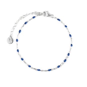 CU Jewellery – Beaded armband, silver/blått