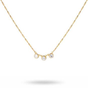 CU Jewellery – Cubic Triple halsband, guld