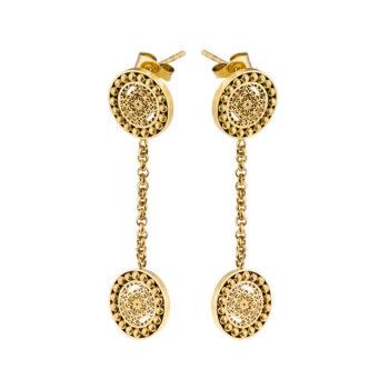 Ingnell Jewellery – Steffie Coin Örhängen, guld