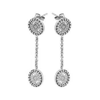 Ingnell Jewellery – Steffie Coin Örhängen, silver