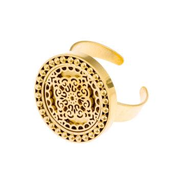 Ingnell Jewellery - Steffie Coin Ring, guld