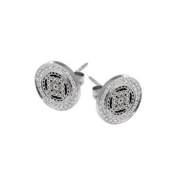 Ingnell Jewellery – Steffie Coin CZ Örhängen, silver