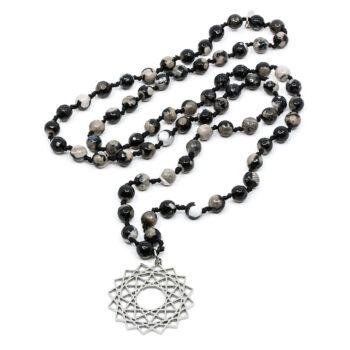Seven/East – Chakra Wheel halsband, svart
