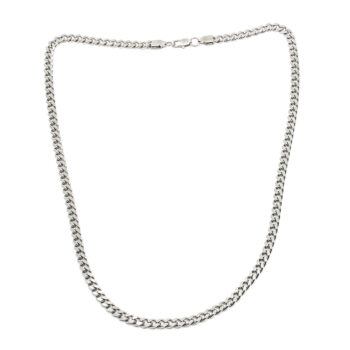 Seven/East – Brushed flat chain Halsband, silver
