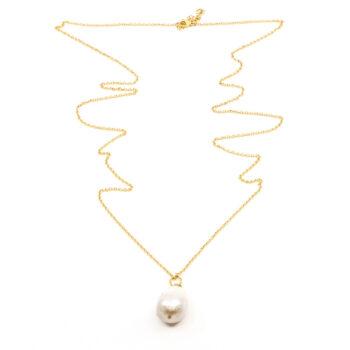 Seven/East – Pearl Långt Halsband, guld