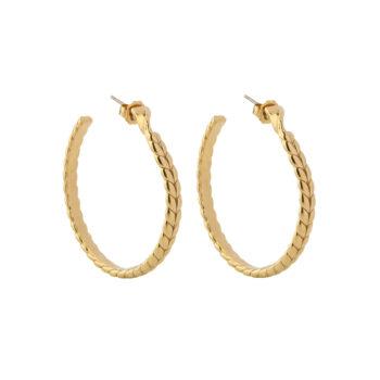 La Maison Bagatelle – Braided hoops örhängen, guld