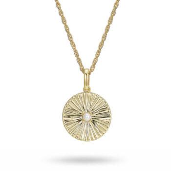 La Maison Bagatelle – Pleated halsband, guld