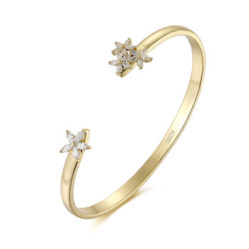 La Maison Bagatelle – Flower bangle armband, guld