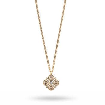 Dyrberg/Kern - MANNY halsband, guld/grönt