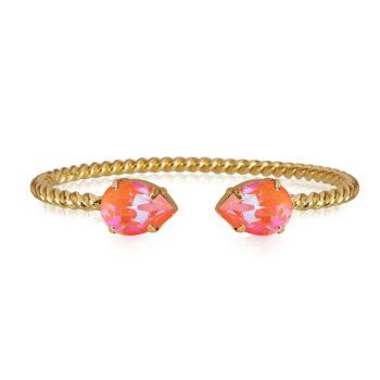 Caroline Svedbom – Mini Drop armband, guld/orange glow delite