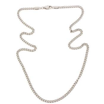 Seven East - Mini Flat Chain Halsband, Silver